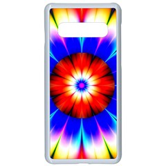 Abstract Digital Art Artwork Colorful Samsung Galaxy S10 Seamless Case(white) by Pakrebo