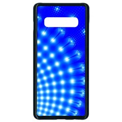 Digital Arts Fractals Futuristic Blue Samsung Galaxy S10 Plus Seamless Case (black) by Pakrebo