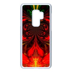 Digital Arts Fractals Futuristic Colorful Samsung Galaxy S9 Plus Seamless Case(white)