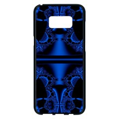 Art Fractal Artwork Creative Blue Black Samsung Galaxy S8 Plus Black Seamless Case