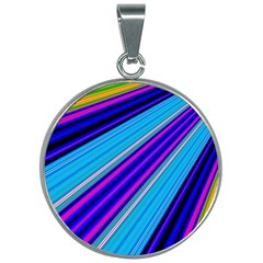 Background Colors Colorful Design 30mm Round Necklace