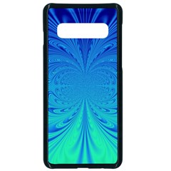 Digital Arts Fractals Futuristic Blue Magenta Samsung Galaxy S10 Seamless Case(black) by Pakrebo