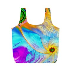 Artwork Digital Art Fractal Colors Full Print Recycle Bag (m)
