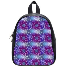 Snow Blue Purple Tulip School Bag (small) by Jojostore