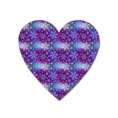 Snow Blue Purple Tulip Heart Magnet by Jojostore