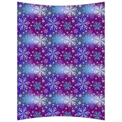 Snow Blue Purple Tulip Back Support Cushion