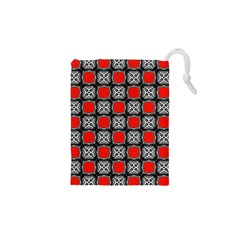 Pattern Square Drawstring Pouch (xs)