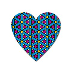 Lines Blue Seamless Heart Magnet by AnjaniArt