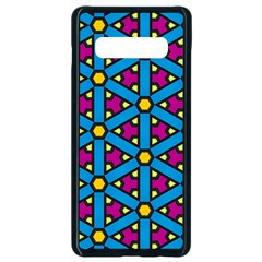 Lines Blue Seamless Samsung Galaxy S10 Plus Seamless Case (black) by AnjaniArt