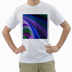 Background Abstract Curves Men s T Shirt (white) (two Sided)