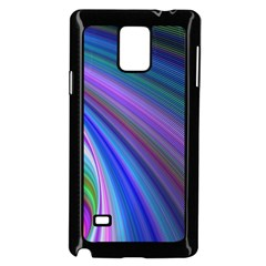 Background Abstract Curves Samsung Galaxy Note 4 Case (black) by Bajindul