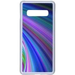 Background Abstract Curves Samsung Galaxy S10 Plus Seamless Case(white)