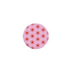 Texture Star Backgrounds Pink 1  Mini Magnets
