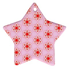 Texture Star Backgrounds Pink Ornament (star)