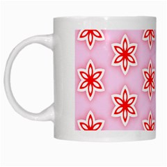 Texture Star Backgrounds Pink White Mugs