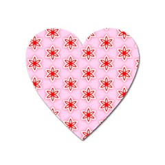 Texture Star Backgrounds Pink Heart Magnet