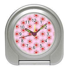 Texture Star Backgrounds Pink Travel Alarm Clock by HermanTelo
