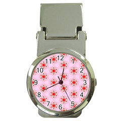 Texture Star Backgrounds Pink Money Clip Watches