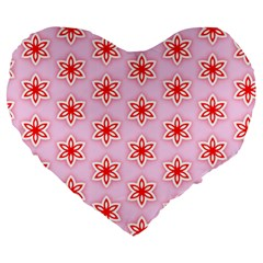 Texture Star Backgrounds Pink Large 19  Premium Heart Shape Cushions