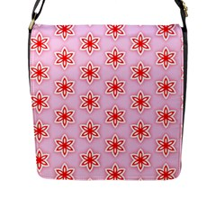 Texture Star Backgrounds Pink Flap Closure Messenger Bag (l)