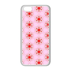 Texture Star Backgrounds Pink Iphone 5c Seamless Case (white)