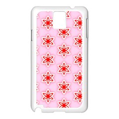 Texture Star Backgrounds Pink Samsung Galaxy Note 3 N9005 Case (white)