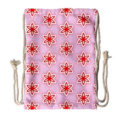 Texture Star Backgrounds Pink Drawstring Bag (large)
