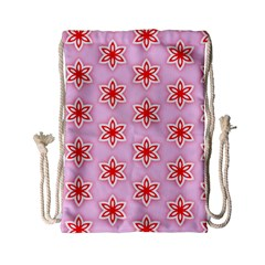 Texture Star Backgrounds Pink Drawstring Bag (small)