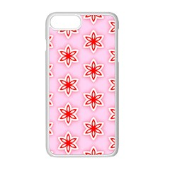 Texture Star Backgrounds Pink Iphone 8 Plus Seamless Case (white)