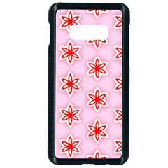Texture Star Backgrounds Pink Samsung Galaxy S10e Seamless Case (black)
