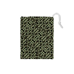 Modern Abstract Camouflage Patttern Drawstring Pouch (small) by dflcprintsclothing