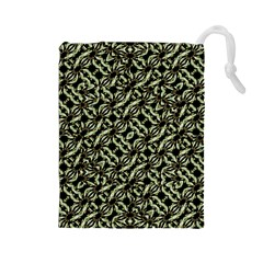 Modern Abstract Camouflage Patttern Drawstring Pouch (large) by dflcprintsclothing