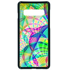 Design Background Concept Fractal Samsung Galaxy S10 Seamless Case(black)