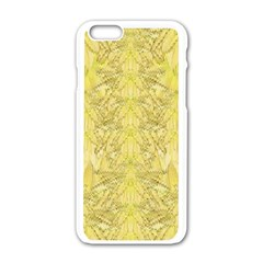 Flowers Decorative Ornate Color Yellow Iphone 6/6s White Enamel Case by pepitasart