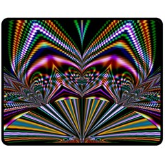 Abstract Art Artwork Fractal Design Fleece Blanket (medium)  by Pakrebo