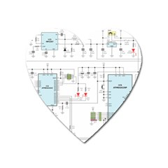 Circuits Electronics Atmel Heart Magnet by Bejoart