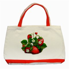 Strawberries Fruits Fruit Red Classic Tote Bag (red) by Bejoart