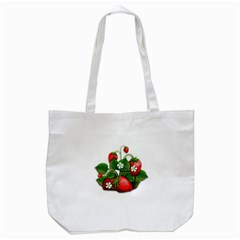 Strawberries Fruits Fruit Red Tote Bag (white)