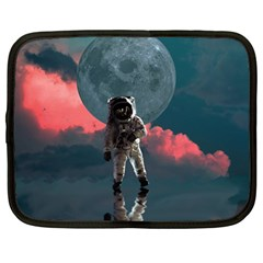 Astronaut Moon Space Nasa Planet Netbook Case (large) by Bejoart
