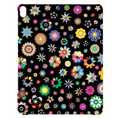 Flower Floral Pattern Apple Ipad Pro 12 9   Black Uv Print Case