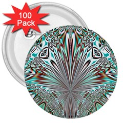 Crystal Design Crystal Pattern Glass 3  Buttons (100 Pack)  by Pakrebo