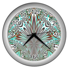 Crystal Design Crystal Pattern Glass Wall Clock (silver) by Pakrebo