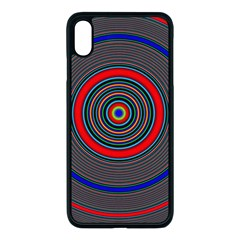 Art Design Fractal Circle Iphone Xs Max Seamless Case (black) by Pakrebo