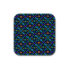 Have Fun Multicolored Text Pattern Rubber Coaster (square)  by dflcprintsclothing