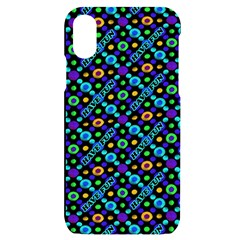 Have Fun Multicolored Text Pattern Iphone X/xs Black Uv Print Case