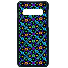 Have Fun Multicolored Text Pattern Samsung Galaxy S10 Seamless Case(black)