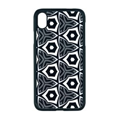 Black White Pattern Iphone Xr Seamless Case (black)