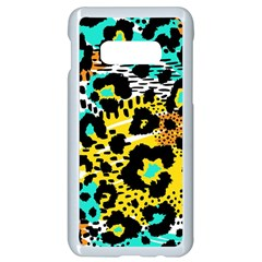 Modern Abstract Animal Print Samsung Galaxy S10e Seamless Case (white) by tarastyle