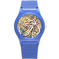 Modern Abstract Animal Print Round Plastic Sport Watch (s) by tarastyle