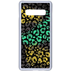 Modern Abstract Animal Print Samsung Galaxy S10 Plus Seamless Case(white) by tarastyle